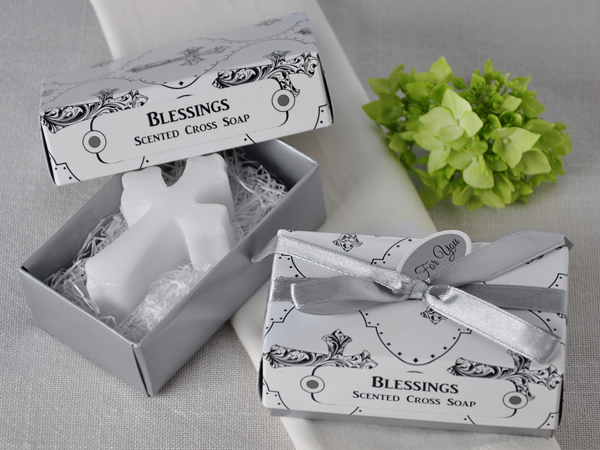 Blessings' Scented Cross Soap Favor - ArtisanoDesigns