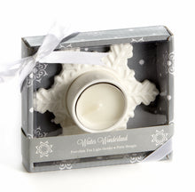 "Load image into Gallery viewer, A94041 - ""Winter Wonderland"" Porcelain Tea Light Candle Hold"
