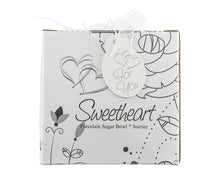 "Load image into Gallery viewer, ""Sweetheart"" Porcelain Sugar Bowl Favor - ArtisanoDesigns"