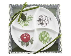 """Four Seasons"" Serving / Dipping Platter - ArtisanoDesigns"