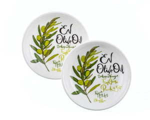 EV Olive Oil Dipping Dishes Gift (Set of 2) - ArtisanoDesigns