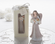"Load image into Gallery viewer, ""Cherished Blessings"" Angel & Baby Figurine - ArtisanoDesigns"