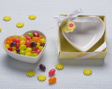 "Load image into Gallery viewer, ""Sweet Treats"" Heart Shaped Candy Bowl/Trinket Dish - ArtisanoDesigns"
