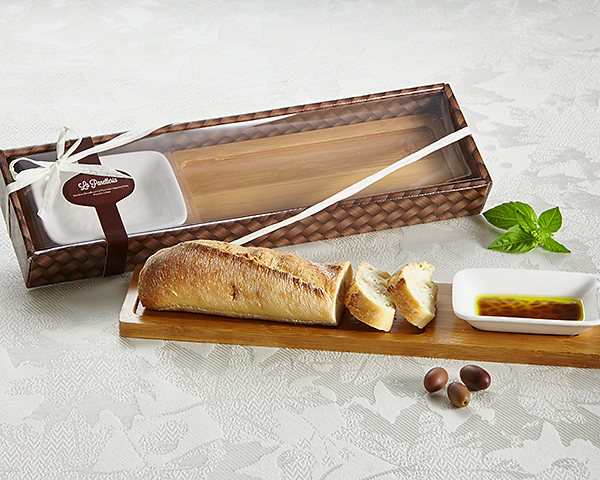 La Panetteria Bread Board with Dipping Dish - ArtisanoDesigns