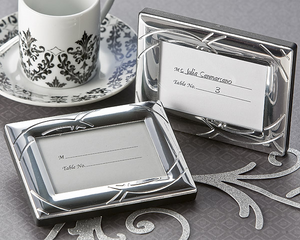 Double Ring Romance Mini Photo Frame - Place Card Holder Favor - ArtisanoDesigns