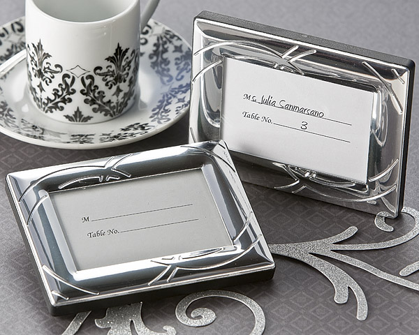 Double Ring Romance Mini Photo Frame - Place Card Holder Favor