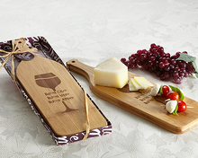 Load image into Gallery viewer, 'Buon Appetito' Wine Shaped Cheese Board - ArtisanoDesigns