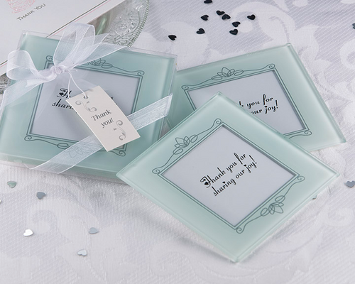 Memories Forever - Frosted Glass Photo Coaster Favor (Set of 2)