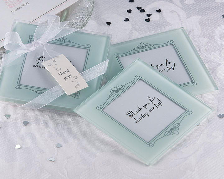 Memories Forever - Frosted Glass Photo Coaster Favor (Set of 2) - ArtisanoDesigns
