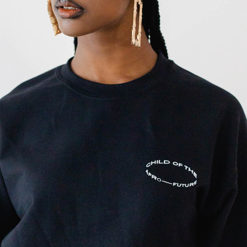 Child of the Afro Future Crewneck - Black