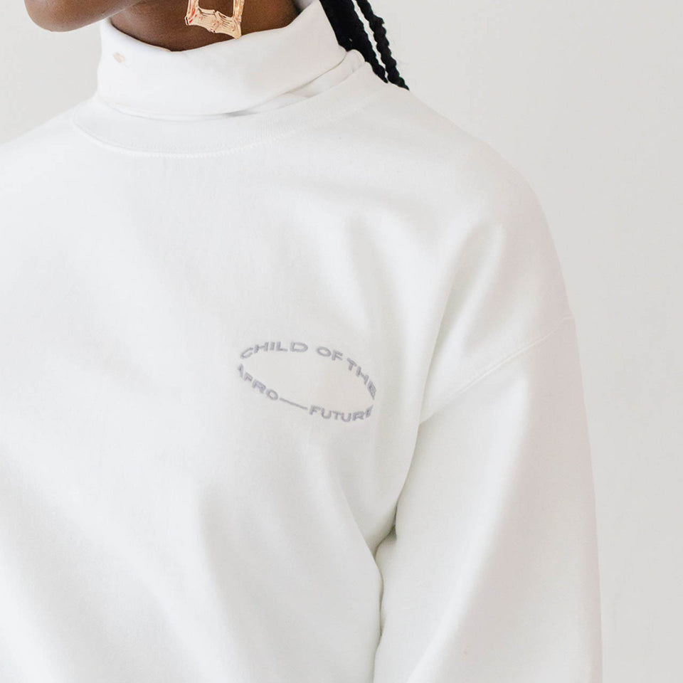 Child of the Afro Future Crewneck - White