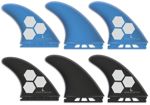 Channel Islands 1 tab thruster surfboard fins