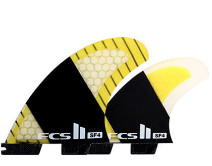 FCS II stretch 5-fin surfboard fins