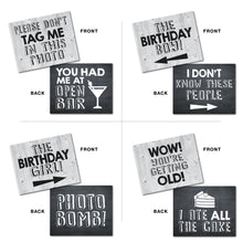 Load image into Gallery viewer, Birthday Photo Booth Prop Signs
