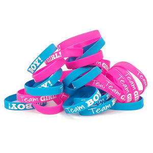 Baby Gender Reveal Party : Team Wristbands