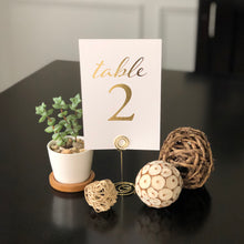 Load image into Gallery viewer, Wedding & Event Table Numbers (Gold)