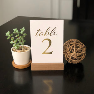 Wedding & Event Table Numbers (Gold)