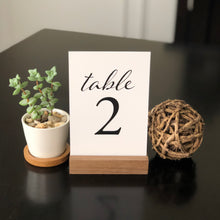 Load image into Gallery viewer, Wedding & Event Table Numbers (Black)