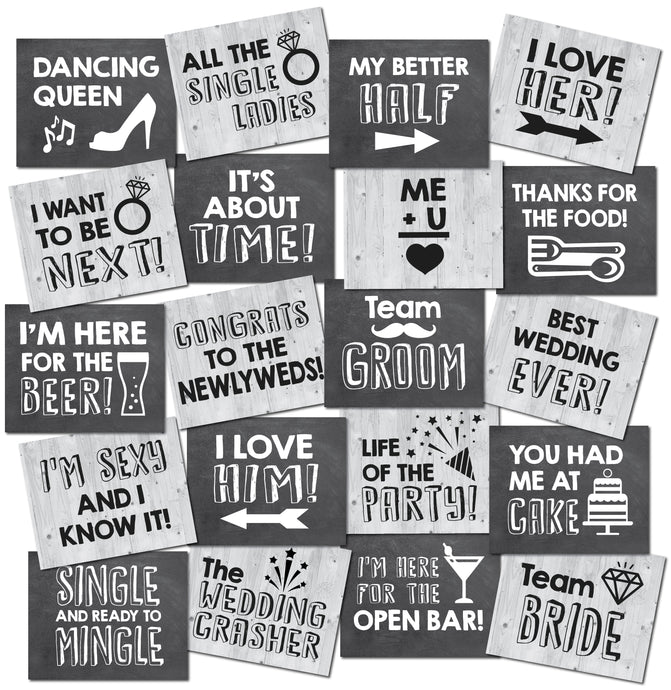 Wedding Photo Booth Prop Signs