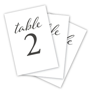 Wedding & Event Table Numbers (Black)