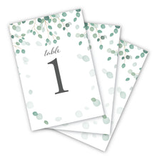 Load image into Gallery viewer, Wedding & Event Table Numbers (Eucalyptus)