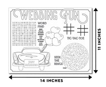 Load image into Gallery viewer, Kids Wedding Activity Placemats (24 Count)