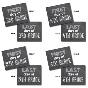First Day & Last Day of School Grade Signs for Pictures