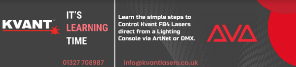 Learn how to control your Kvant or Unity FB4 Laser direct over an Avolites Lighting Desk