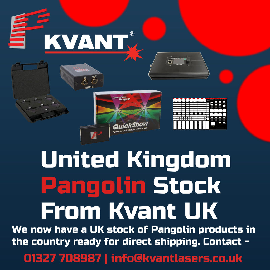 Pangolin Laser Control equipment now readily available for next day delivery in the UK.