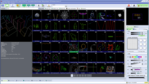 2000 Pre programmed Laser cues ready for you to use.