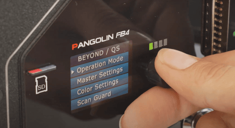 Upclose view on a Pangolin Laser FB4 Hardware