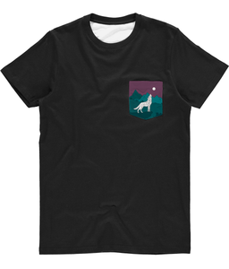 Unisex Desert Wolf Tee (Matching Bandana Available) - The Collective Wolf
