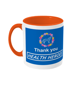 Floral NHS Thank You Mug - The Collective Wolf