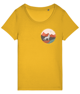 Desert Wolf Logo Tee Ladies Fit - The Collective Wolf