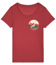 Lataa kuva Galleria-katseluun, Desert Wolf Logo Tee Ladies Fit - The Collective Wolf