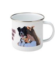 將圖片載入圖庫檢視器 Quoted Enamel Mug (Personalise Me) - The Collective Wolf