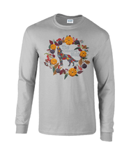 Load image into Gallery viewer, Ash Grey Berry Pumpkin Long Sleeved Tee (Personalise Me)