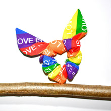 Load image into Gallery viewer, Love Is Love Anti-Tangle Hair Scrunchie - The Collective Wolf