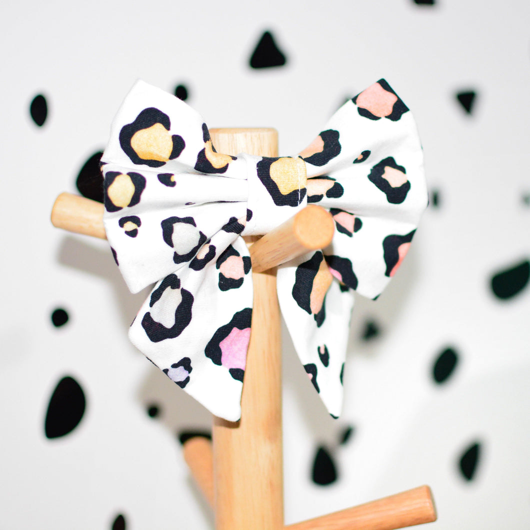Pastel Leopard Pet Bows - The Collective Wolf