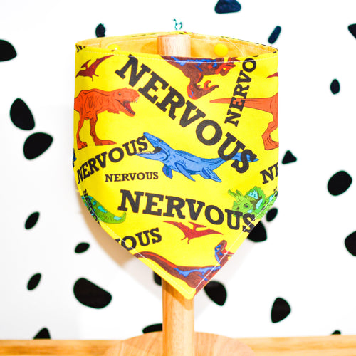 DINOSAUR Yellow Club Nervous Bandanas - The Collective Wolf