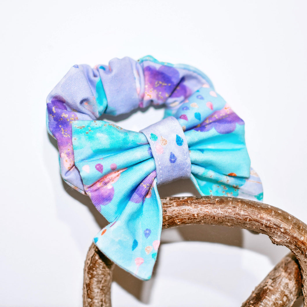 Pastel Showers Sailor Bow Scrunchie - The Collective Wolf