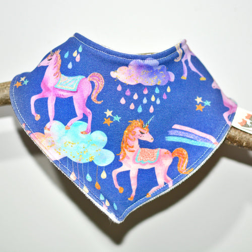 Pastel Unicorns Absorbent Baby Bib - The Collective Wolf