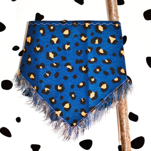 The Chilly Cheetah Hand-Frayed Bandana - The Collective Wolf