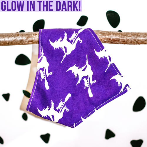 Purple Witch B*tch Bandana Glow In The Dark