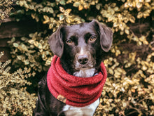 Load image into Gallery viewer, Carmine Red Extra Soft Fleece Snood
