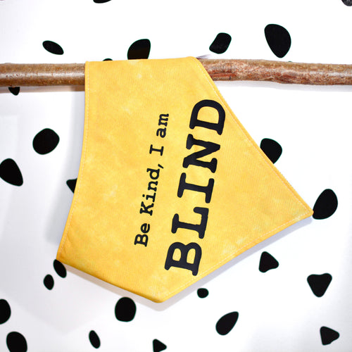 Be Kind I am Blind Pet Alert Bandanas