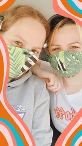 Monstera Face Mask
