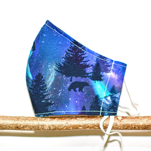 Aurora Northern Lights Face Mask - The Collective Wolf