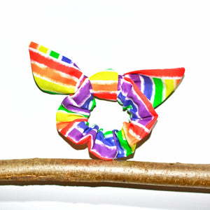 Pride Rainbow Block Flags Anti-Tangle Hair Scrunchie