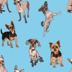 Custom Pet Portraits Fabric Design - The Collective Wolf